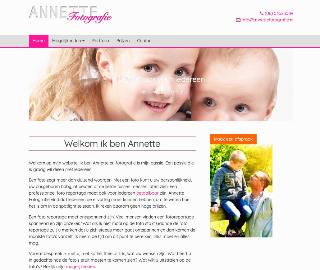 Annette fotografie site