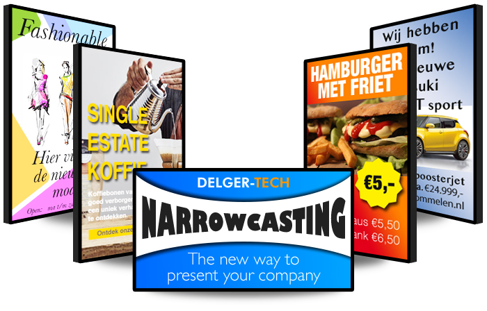 Narrowcasting en Digital signage