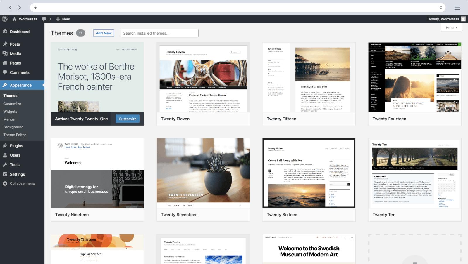 Wordpress voorbeeld